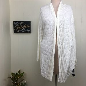 NWT Style & Co Ivory Open Front Cardigan Sweater